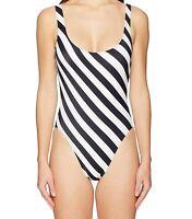 Norma Kamali Womens Swimwear Black Size Medium M Striped One Piece $187 391