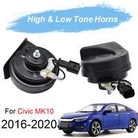 Snail Horn For Honda Civic MK10 2016-2020 12V 125db Loud Waterproof Car Horn