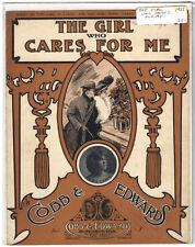 Rare Antique Orig VTG 1915 Emma Carus Girl Who Cares For Me Sheet Music Print