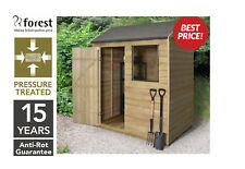 Forest 6x4 Pressure Treated Reverse Timber Garden Tool Shed Patio Storage NEW