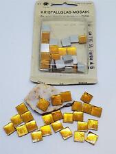Vintage Ds Swarovski Crystal Glass Mosaic Tiles Silver Foil Back Square Cabs
