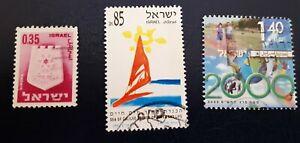 ISRAELE-  3 francobolli