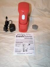 Foodsaver Freshsaver Red Rechargable Vacuum Food Bag Sealer Handheld Works
