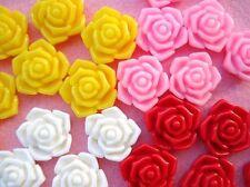 20 Rose Resin 4D Flatback Button/scrapbooking/flower/Craft/Embellishment/bow B92