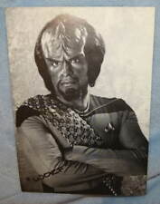 Star Trek : The Next Generation TV Series WORF Michael Dorn Autograph Card 1990s