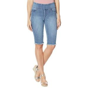 DG2 Diane Gilman Stretch Pull-On Bermuda Shorts Women's - Choose Size & Color