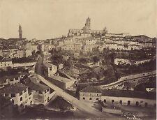 Panorma de Sienne Siena Italie Italia Photo Lombardi Vintage albumine, ca 1870
