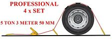 Car TRANSPORTER Ratchet Straps 5 Ton 3m X 50mm Trailers Recovery Set of 4
