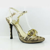 WOMENS LADIES STRAPPY PLATFORM ANKLE STRAP HIGH HEEL COURT SHOES SANDALS 3-8