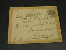 Netherlands Indies 1922 stationery cover to Netherlands faults *3184