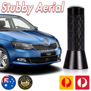 Antenna / Aerial Stubby Bee Sting for Skoda Fabia Black Carbon 3.5 CM