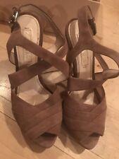 Prada Calzature Donna Platform Sandals, Dark Rose, Size 35