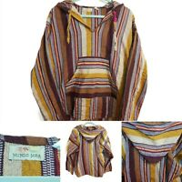 Ladies Size 14  Boho Hippy  Hoody Pullover Wool Knitted Festival Top VINTAGE XL