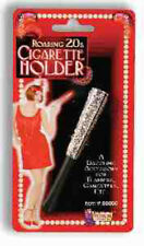 Elegant Ejecting Style Functioning CIGARETTE HOLDER Costume Accessory Blk/Silver