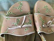 STUART WEITZMAN Pink Wedge Sandals Open Toe Dog Theme Sz 8 M