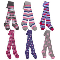 Childrens Girls Design Tights Cotton Rich Multibuy Variety Pack Cute Pattern I2I