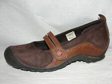 MERRELL Shoes Brown Plaza Bandeau Leather MaryJane Wedge Heels Women's Size 9