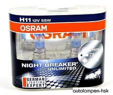 OSRAM H11 12V 55W Night Breaker Unlimited +110% 2st- Nightbreaker NEW
