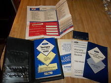 1992 FORD Tempo OWNER'S GUIDE, Servicing, Maintenance  - Sound Operating Guide,