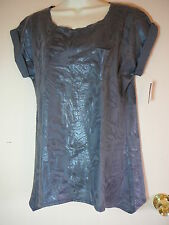 No Boundaries Top S Gray Rounded Neck Sleeveless NWT Casual Cotton Solid