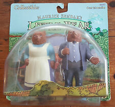 1999 Shelcore Marice Sendak's Little Bear PVC Figurines - Papa Bear Mama Bear