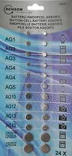 24 Knopfzellen Set Uhrenbatterien Batterie AG 1 3 4 5 10 12 13 CR 2016 2025 2032