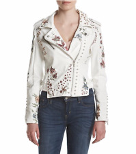 """BlankNyC embroidered floral Moto Midsummer Dream"""" Faux leather  jacket XS NEW"""