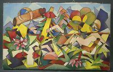 Tableau 1961 Coloriste Huile sur toile signature A. Rigollot Delaunay