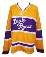 Any Name Number Size Dixie Flyers Custom Retro Hockey Jersey Yellow