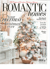 ROMANTIC HOMES MAGAZINE NOVEMBER 2017.YOUR PRETTIEST CHRISTMAS EVER