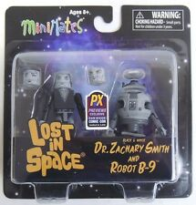 Esz561. Minimates Lost In Space Black and White Dr. Zackary Smith and Robot B-9