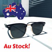 Retro Vintage Mens / Womens Polarised Sunglasses Black / Gold ! AU STOCK !