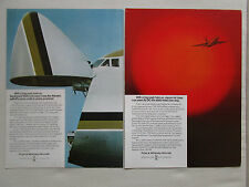 4/75 PUB PRATT & WHITNEY JT9D DC-10-40 JAPAN AIR LINES / SEABORD BOEING 747F AD
