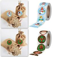 500Pcs/Roll Christmas Stickers Adhesive Label Seal Sticker Santa  KO98