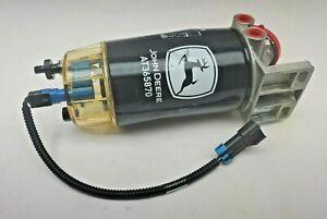 OEM NOB John Deere AT387536 w/ AT365870 Filter Fuel Water Separator & Heater