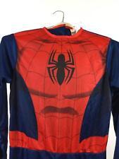 Boys Spiderman Costume Large Marvel Jumpsuit 1 Piece Halloween NO MASK New