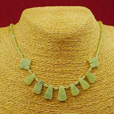 collar serpentina Tierno Verde AFGANISTÁN JOYA COLLAR CADENA C06