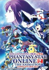 DVD Phantasy Star Online 2 The Animation Complete Vol 1-12 End + Free Anime
