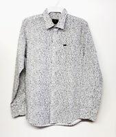 OBEY Men's YORK Woven L/S Shirt - White - Medium - NWT