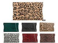 Women's Patent Leopard Print Shining Clutch Bag Animal Print Evening Handbag UK