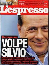 L'Espresso.Silvio Berlusconi,qqq