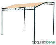 Gazebo pergola veranda da esterno giaedino 3x2,5 mt con copertura in poliestere