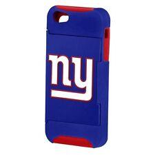 NFL NEW YORK GIANTS DUAL HYBRID IPHONE 5 5S CASE W/HIDEAWAY CREDIT CARD SLOT!