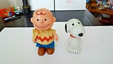 "VTG Charlie Brown Peanuts 1950 Hong Kong 7"" Jointed Action Doll Toy/ SNOOPY"