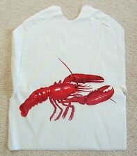 LOT of 12 Disposable Plastic LOBSTER Bibs with ties Seafood Crab Bake Feast