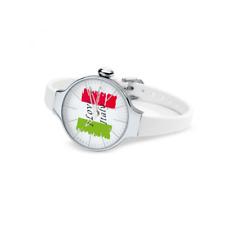 Orologio HOOPS mod. CHERIE ITALY ref. 2483L51 Donna in gomma bianco bandiera