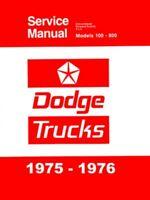1975 1976 Dodge Truck Shop Service Repair Manual Book Engine Drivetrain Guide