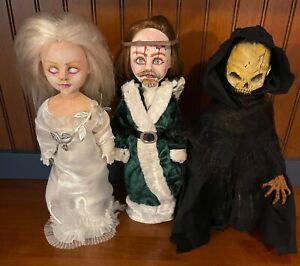 Living Dead Dolls Handmade OOAK Custom Lot of 3 Christmas Carol Ghosts