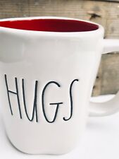 Rae Dunn HUGS & KISSES mug Red Interior Valentines Day Gift Love Double Sided