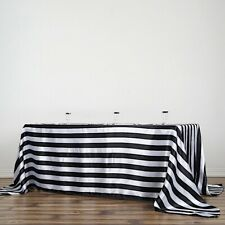 Miraculous Black And White Striped Tablecloth In Tablecloths For Sale Home Interior And Landscaping Synyenasavecom